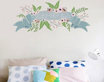 Let it be floral wall sticker