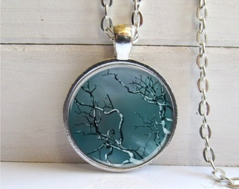 Tree Pendant, Tree Branch Necklace, Tree Necklace, Dark Forest Art Pendant