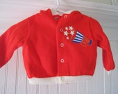 Red, white and blue cheer 2 piece sweatsuit, size 6 months