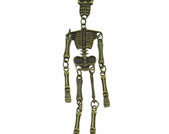 2pc 96x22mm antique bronze finish Skeleton pendants-8420B