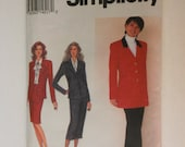 Simplicity Pattern 8614 Size P (12-16) Misses Skirt and Lined Jacket, each in Two Lengths and Pants