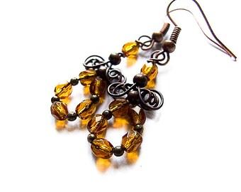 Autumn Earrings Tutorial, Autumn Jewelry, DIY Wire Earrings, Wire Wrapping Tutorial tutorial 26