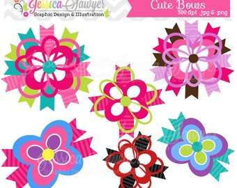 INSTANT DOWNLOAD, cute bow clipart, for commerical and personal use