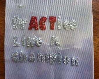 PrACTice like a champion Cheer Bow Decal
