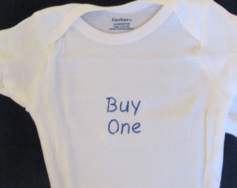 Embroidered Onesie Sets for Twins