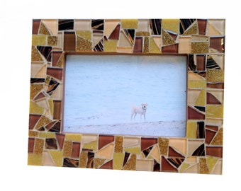 Brown Mosaic Picture Frame