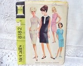 Vintage McCalls Dress Pattern 8182 Size 12 1966