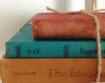 Vintage 3 Book Bundle for Display Decorating Home Decor Wedding Reading