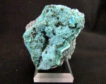 Mineral Specimen - Plancheite, Malachite, Malachite pseudomorph Azurite, Chrysocolla - Mashamba West Mine, Kolwezi Dist., Katanga, DR Congo