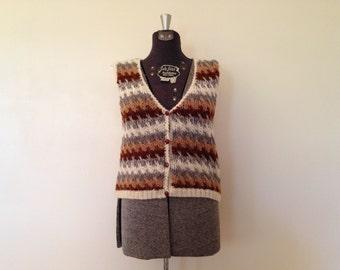 Vintage Knit Vest / Small / Heathers