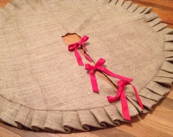 "43"" Ruffled Burlap Christmas Tree Skirt"
