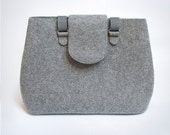 Sale 20% off. PERFECT BAG | Grey felt, oversize, shoulder  handbag. a4+, pure, minimal, fold over,  woman, big, sale, gift.