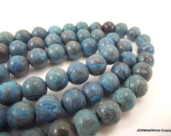 Blue Sky Jasper Round Beads, 10mm, 16 Inch Strand, Whole Strand