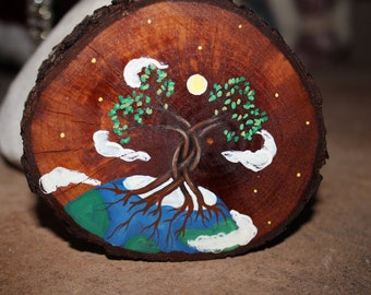 Handpainted Tree of Life with Earth