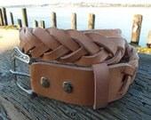 Braided Rawhide Leather Belt