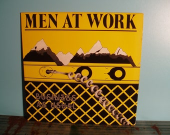 MEN AT WORK Business As Usual Vinyl Record Album Lp 1982 Down Under New Wave Pop Rock Near Mint Condition Vintage