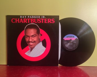 GHOSTBUSTERS THEME Ray Parker Jr Chartbusters Soundtrack Vinyl Record LP 1984 Very Good Condition Horror Halloween Vintage