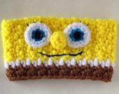 Crocheted Spongebob Coffee Cup Cozy Sleeve