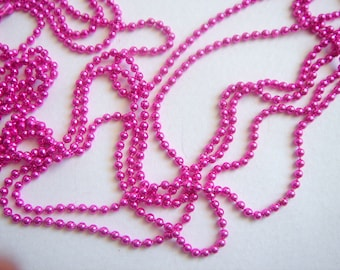 Pink  Ball Chain 24''