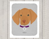 Vizsla - Dog Nursery Art Print - Custom