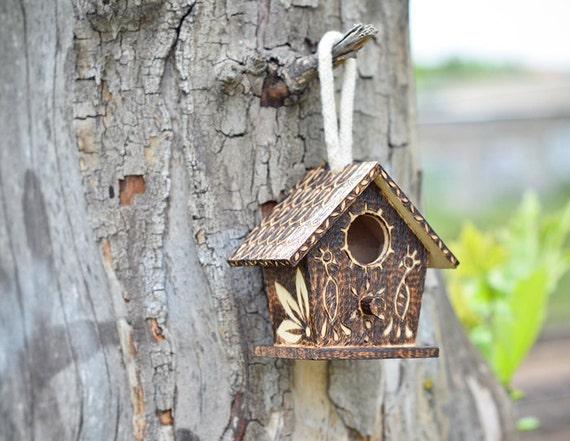 Brown Miniature Bird House Indoor Gardening By Pocketsofart