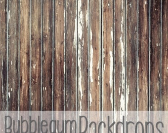 Light Aged Peeling Wood - Vinyl Photography  Backdrop Photo Prop