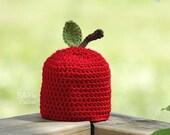 Apple Crochet Hat