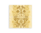 Serviette for decoupage x 1. Paper napkin. Gold filigree. No 1163