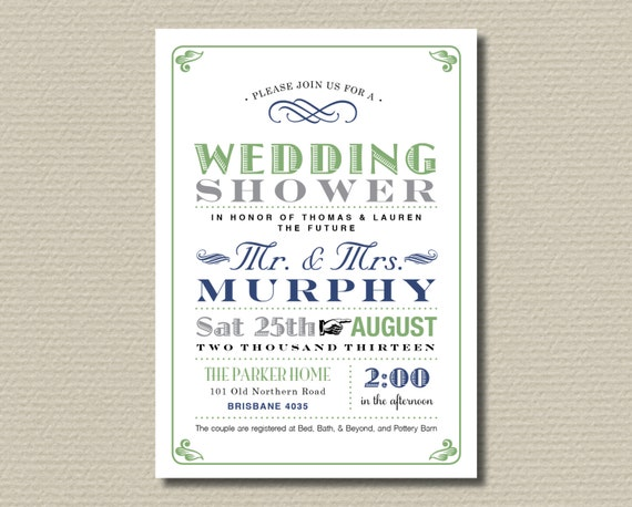 items similar to printable couples wedding shower