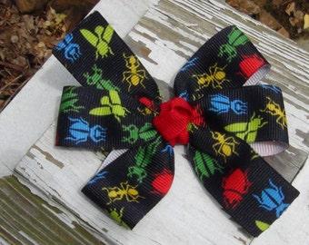 Small Bug Hair Bow