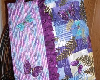 Tote/ Cute Tote Purse/ Bookbag/ Bag/ Purse/ Purple Purse