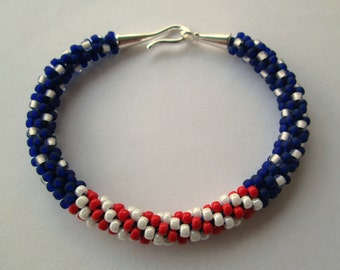 American Flag Bracelet, American Flag Jewelry, Patriotic Jewelry, Patriotic Bracelet, 4th of July Jewelry, Red White and Blue Bracelet