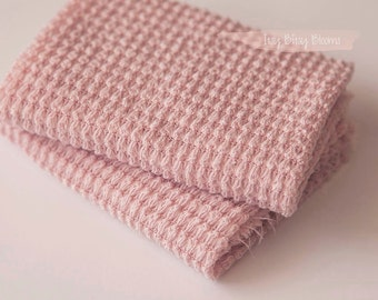 Newborn Stretch Knit Wrap, Newborn Photo Prop, Pink Newborn Wrap, Textured Knit Wrap, RS