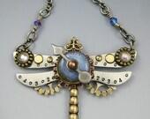 Steampunk, Steampunk Jewelry, Steampunk Dragonfly, Dragonfly, Steampunk Dragonfly Necklace, Dragonfly Jewelry, Dragonfly Necklace  RP0463