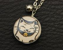 Japanese cat collar double cabochon duplex