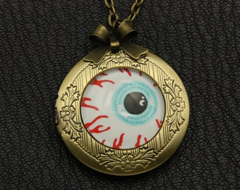 Necklace locket eye