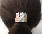 Cat Ponytail Holder- Cat Lover Gift- Ponytail Holder- Hair Accessories