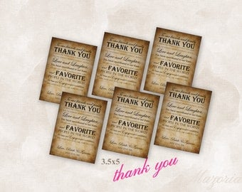 Thank You Wedding Reception Place Setting Cards (vintage) Instant Download Just add your info and print!
