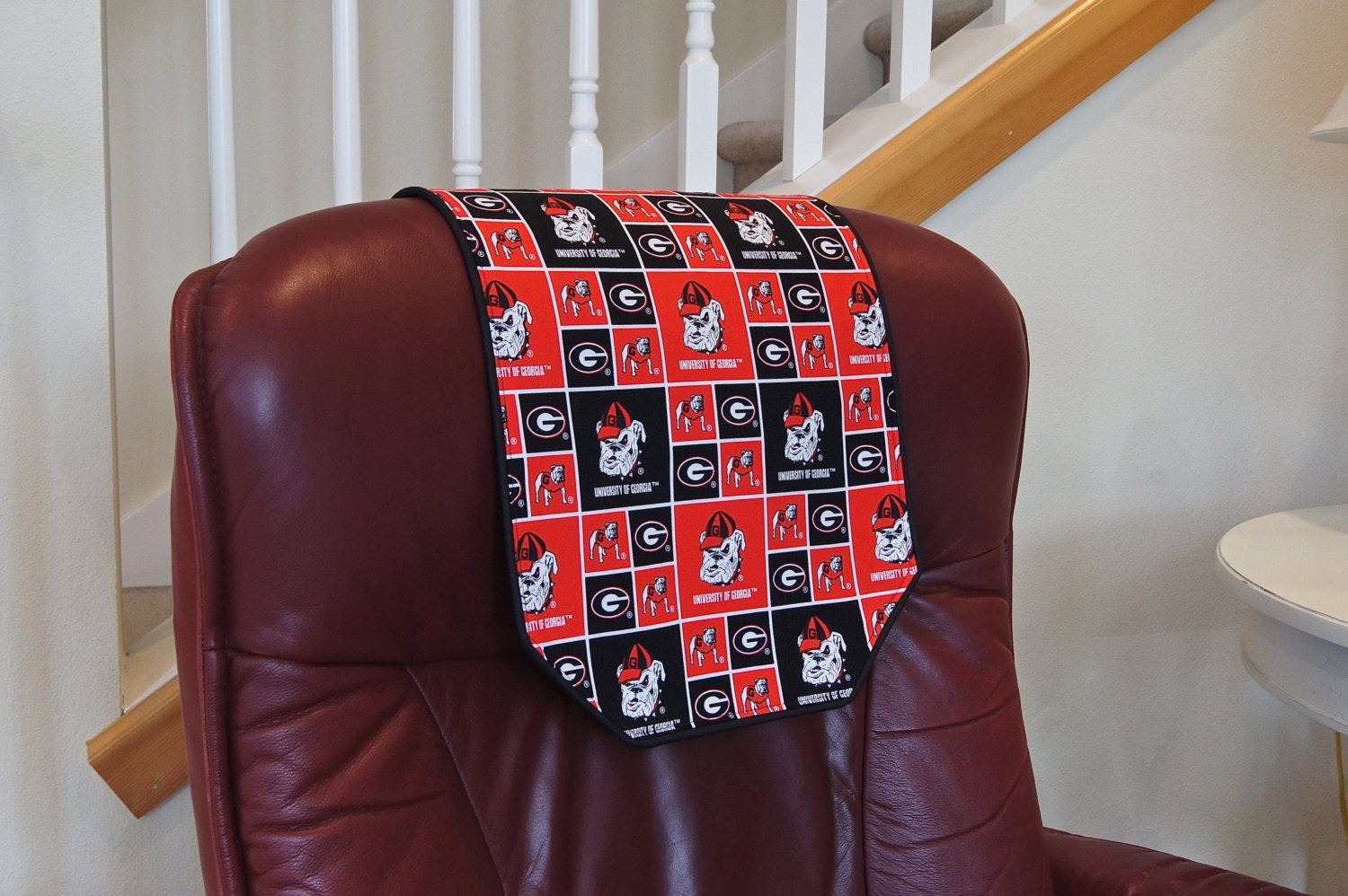recliner chair headrest cover made with uga by chairflair