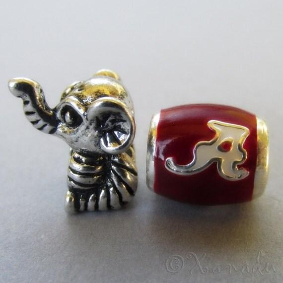 Alabama Charm Bracelet: University Of Alabama Crimson Tide Football Team Logo And Big