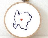 Washington Island Cross stitch pattern. Embroidery pattern of Washington Island Wisconsin. Great lakes island gift. Souvenir.