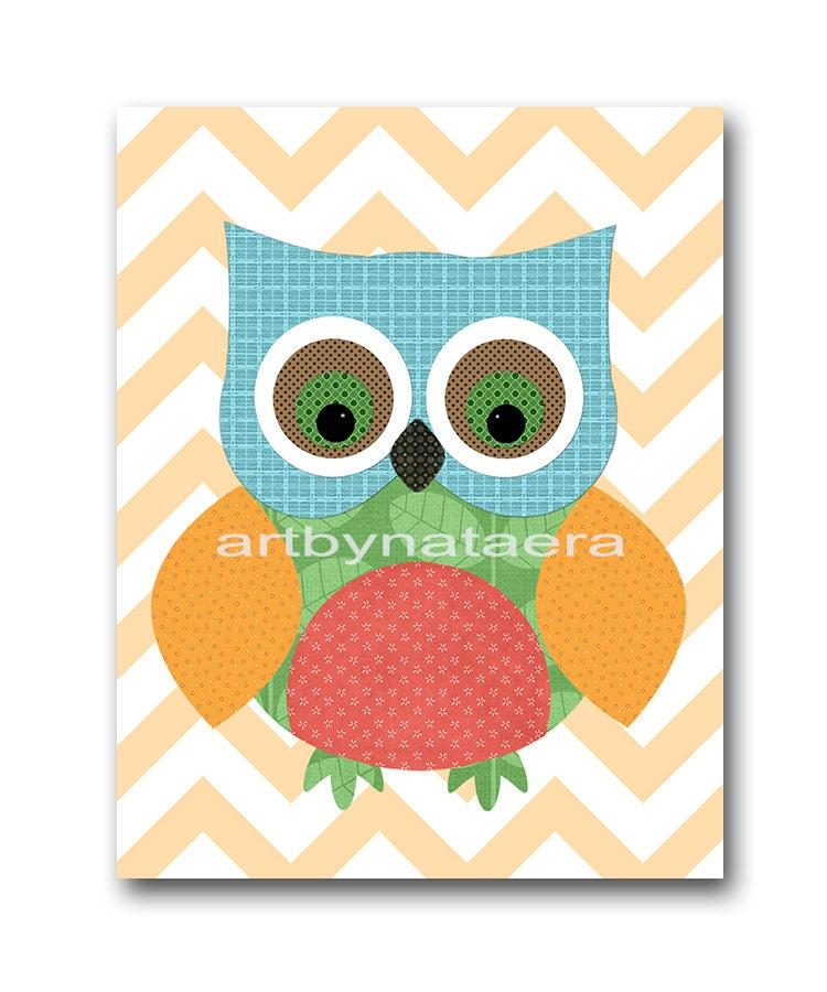owl decor owl nursery wall baby boy nursery decor