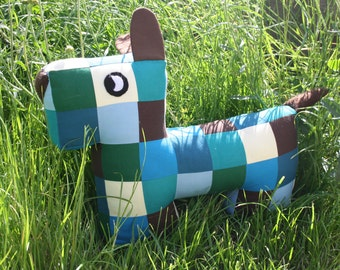 Paul the Aquamarina Patchwork Puppy
