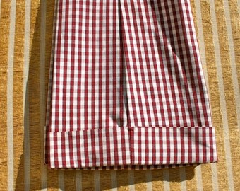 "1970's plaid/checked bellbottom pants, waist 30"""