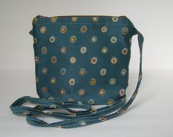 Queen's Blue Messenger Sling Bag Purse(Zippered)