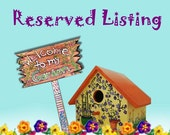 RESERVED for Jackie 18 by 10 Garden Sign, 10 Garden Markers