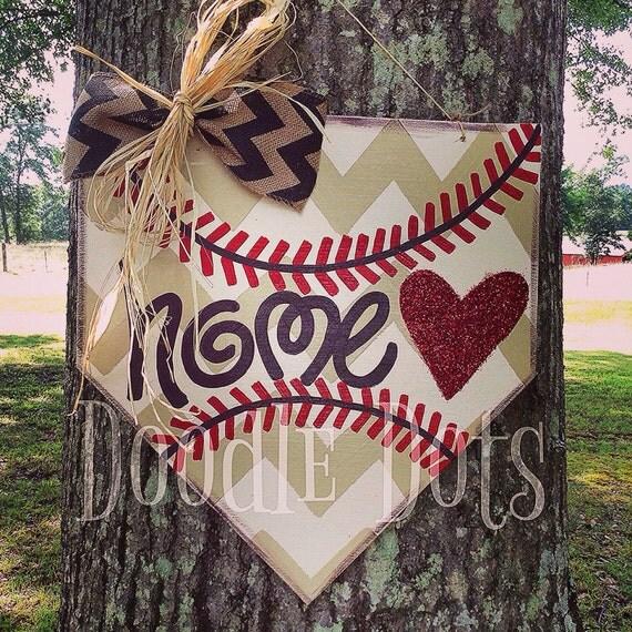 Baseball Home Plate Door Hanger