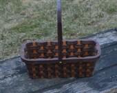 Wine bottle carrier Walnut wood with handle