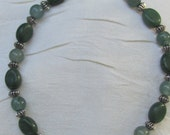 Green Aventurine and Green Chalk Turquoise Bracelet