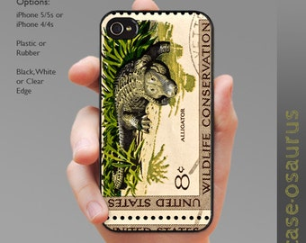 Alligator Conservation Stamp iPhone Case for iPhone 6, iPhone 5/5s or iPhone 4/4s, Samsung Galaxy S6, Galaxy S5, Galaxy S4, Galaxy S3